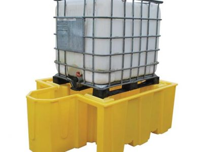IBC Spill Pallet suitable for 1 x 1000ltr IBC with integral dispensing area - BCBB1D